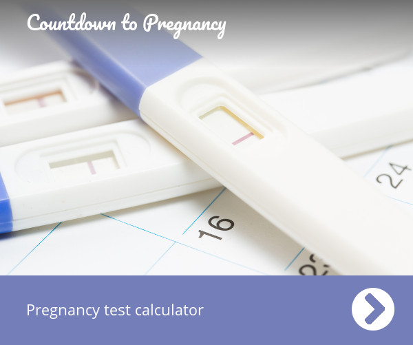 Pregnancy test calculator - When to take a test - Countdown