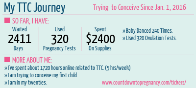 Our Ttc Timeline Countdown To Pregnancy